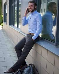 Light Blue Work Pants Outfit What To Wear With Grey Trousers