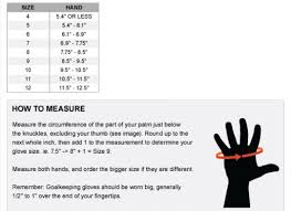 Sells Goalkeeper Gloves Size Chart 41 Hand Picked Goalkeeper Gloves Size Guide