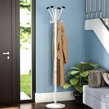 8 Hook Coat Rack Mind Reader Free Standing 100 Hook Aluminum Coat Rack Reviews Wayfair 65