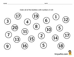 color bubbles with numbers 1 20?resize=600%2C464 number recognition free math worksheet pre k and kindergarten on kindergarten printable worksheets