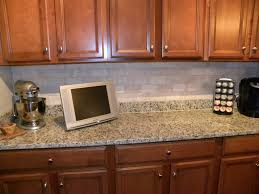 kitchen awesome white brick backsplash ideas with mixer and monitor for decoration