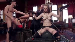 Yhivi Syren De Mer enjoy ass licking during BDSM orgy PornDoe