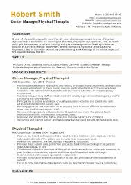 Resume For Physical Therapist Physical Therapist Resume Samples Qwikresume