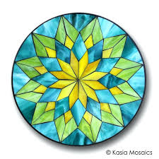 stained glass ideas mosaic mandala by mosaics for beginners stained glass ideas