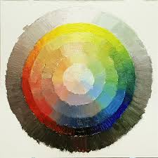 using the color wheel from the value section of the book here for value as a model paint one of your own at 12 12 inches