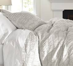 ruched voile duvet cover gray contemporary duvet covers and sets