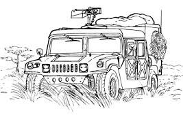 Small Picture Military Hummer Army Car Coloring Pages Bulk Color