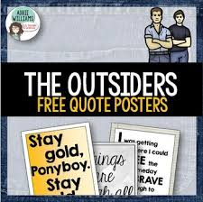 Ponyboy Quotes Magnificent Outsiders Quote Posters By Addie Williams Teachers Pay Teachers