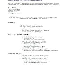 Resume Templates For Students With No Work Experience Resume