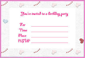 Create Your Own Printable Birthday Party Invitations Free