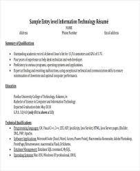 Entry Level Software Engineer Resume Musiccityspiritsandcocktail Com