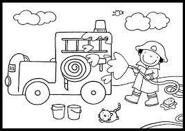 Kleurplaat Brandweer Záchranný Systém Firefighter Worksheets