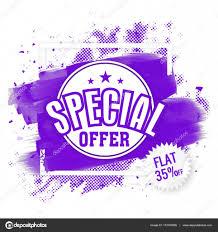 Special Offer Flyer Special Offer Sale Flyer Or Banner Stock Vector