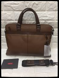 new goods unused tumi tumi double zip total leather briefcase business bag 069714 tafton double zip portfolio