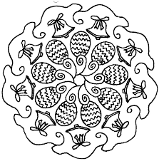 Kleurplaat Mandala Pasen 10