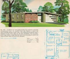 Small Picture Mid Century Modern Ranch House Plans Floor MODERN HOUSE DESIGN