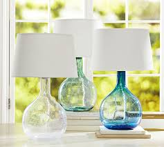 colored glass lighting. Eva Colored Glass Table Lamp   Pottery Barn With Lamps Lighting