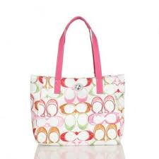 Coach Poppy Turnlock Medium Pink Totes BWT