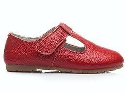 Dadawen Childs Grils Leather T Shaped Strap Oxford Shoes