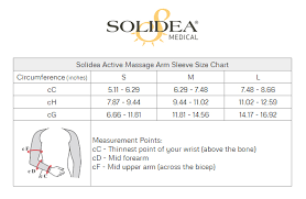 Arm Sleeve Size Chart Solidea Arm Sleeves With Compression