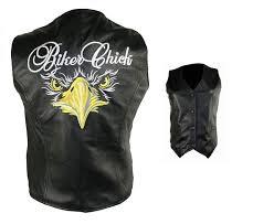 las black biker embroidered leather vest