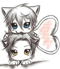 anime chibi cat couples. Plain Anime 32 Best Chibi Boy Images On Pinterest  Chibi Anime Boys  For Cat Couples A