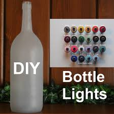 Wine Bottle Lamp Diy Frosted Glass Diy Lighted Wine Bottles Arts And Crafts Glass