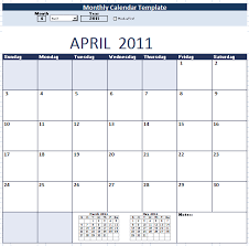 Sample Monthly Calendar Archives Schedule Templates