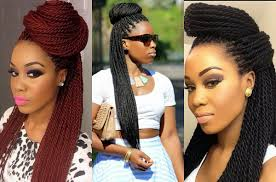 Box Braid Hair Style box braids bun hairstyles you will swear with hairstyles 7793 by wearticles.com