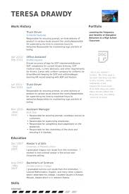 Truck Driver Resume Samples Visualcv Resume Samples Database