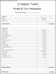 Rental Statement Form Rent Statement Template Free Rental Form Profit And Loss Templates