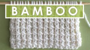 Knit Stitch Patterns Awesome BAMBOO Knit Stitch Pattern YouTube