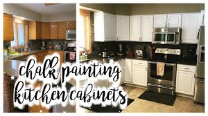 How I Chalk Painted My Kitchen Cabinets