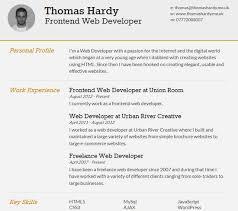 thomas online resume templates free