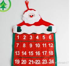 Weihnachts Adventskalender Weihnachtsmann Hängen Filzkalender Weihnachtsschmuck Für Heim Christbaumschmuck