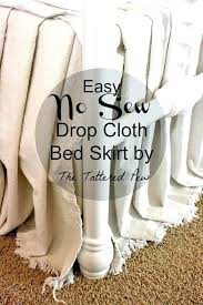 cloth table skirts cloth table skirts easy no sew drop cloth bed skirt home goods cloth table skirts