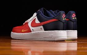 nike air force 1. the mini swoosh is back on nike air force 1 low and it\u0027s available in one of several colorways that perfect for your july 4th celebration.