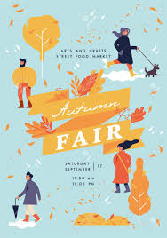 Fall Flyer Vector Autumn Fair Poster Flyer Or Banner Or Banner Template