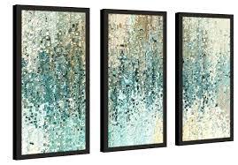3 piece framed wall art sets