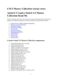 Adobe Creative Suite Design Premium Cs4 Serial Number Creative Suite 5 5 Master Collection Read Me Manualzz Com