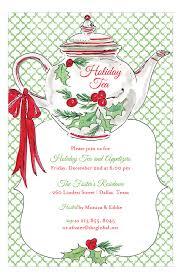 Christmas Tea Party Invitations Holiday Christmas Tea Invitation