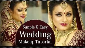 simple easy wedding makeup look tutorial indian bridal makeup krushhh by konica