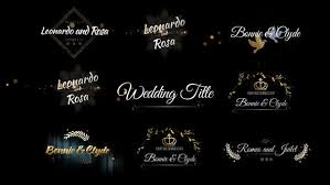 Wedding Title Videohive Six Beautiful Wedding Title Free After Effects
