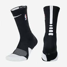 Details About Nba Nike Elite 1 5 Cushioned Crew Black Wht Basketball Socks Msrp 18 Sx5867 010