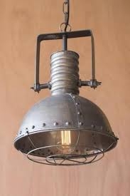 french industrial lighting. Caged Metal Pendant - Les Spectacles French Industrial Lighting E
