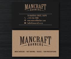 Barber Business Cards Design Bold Professional Barber Business Card Design For