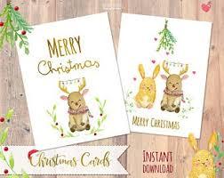Christmas Card Printable Etsy