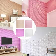 3D PE Foam Wall Stickers DIY Brick ...