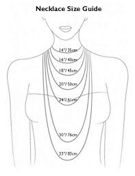 Jewelry Length Chart The Necklace Length Chart