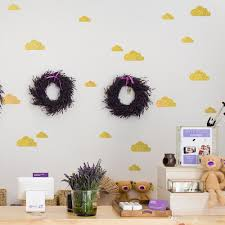 6 sheets diy cloud with glitter wall stickers decals kids children room home decoration vinyl wall art stickers banksy wall stickers bathroom wall decals